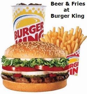 Burger King Granted Licence to Serve Alcohol with Meals