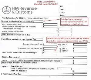 Calculator with hm revenue & customs paye income tax form and self.